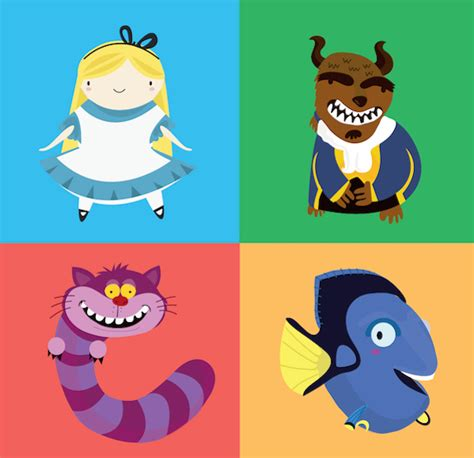 Disney Character Letter K disney pixar themed alphabet with characters cleverly shaped like letters designtaxi