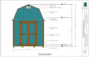 plans to build an 8x12 barn shed