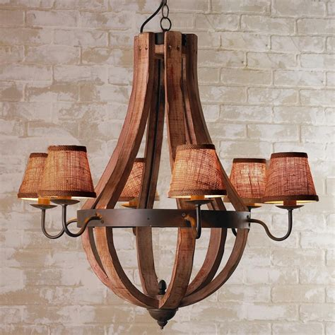 wooden wine barrel chandelier wooden wine barrel stave chandelier available in 5 colors stain