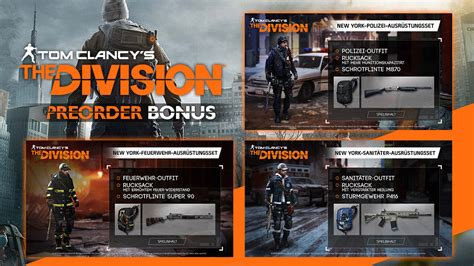 Gear Bonus Cap editions pre order the division zone