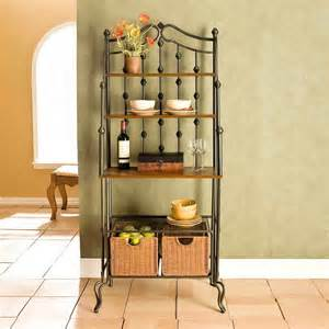 Bakers Rack Design Ideas Kitchen Quite Bakers Rack Decorating Ideas In Your