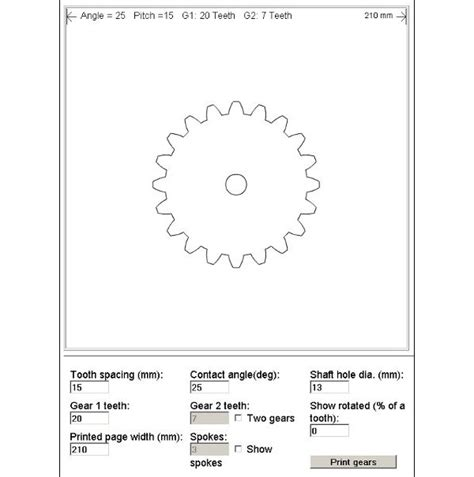 gear template generator version best photos of interactive gear template generator free