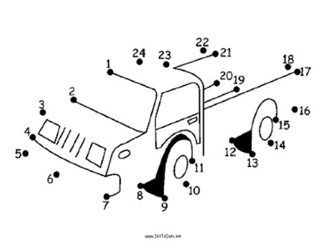 printable dot to dot truck printable pickup truck dot to dot puzzle