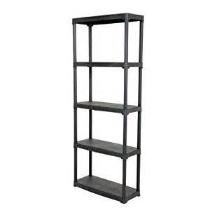 black plastic shelving unit 4 5 tier black plastic shelving unit storage garage
