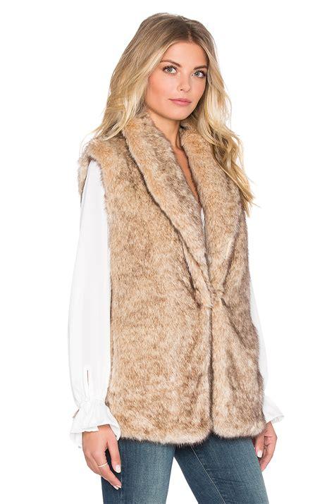 Bench Jackets Women Sanctuary Faux Fur Vest In Natural Lyst
