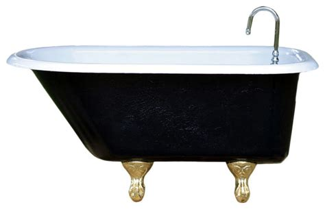 4 foot cast iron bathtub consigned 4 ft refinished black white ladies cast iron