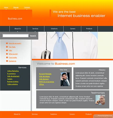 templates for website content content writing web template 0278 computers