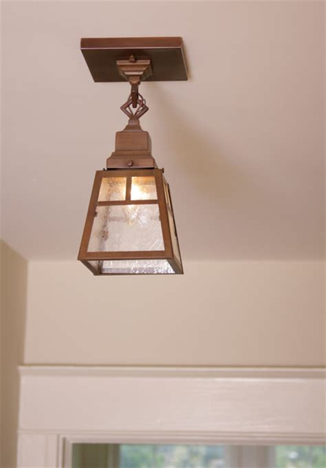 Arts And Crafts Ceiling Lights Up Of Small Ceiling Light Arts Crafts Milwaukee By Brass Light Gallery
