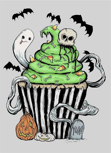 gothic cupcake halloween pinterest tatuajes