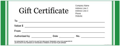 personalized gift certificate template gift certificate template word business plan template