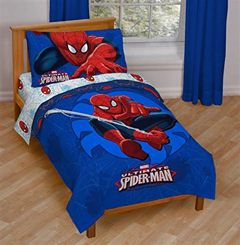 spiderman bed set marvel spiderman regulator toddler 4 piece bed set new