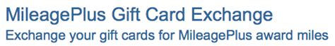 United Airlines Gift Card Exchange - exchange gift cards for airline miles gift card advocate