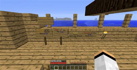 minecraft boat survival boat survival minecraft project