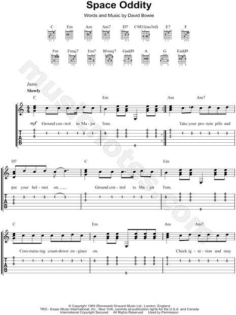 Major Tom Guitar Chords