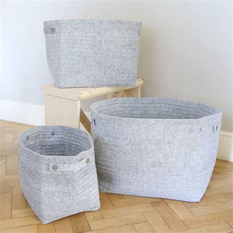 Diskon Original Staresso Storage Bag grey felt storage bags by lilly notonthehighstreet