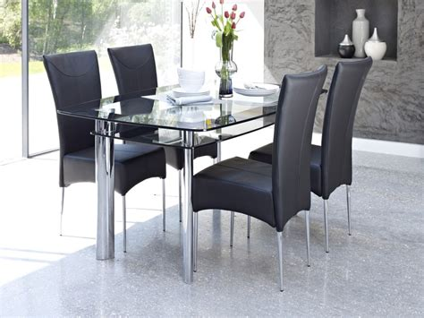 glass dinner table set dining table dining table and glass