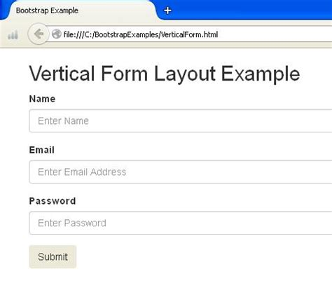 bootstrap layout vertical bootstrap forms