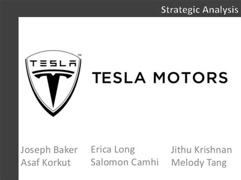 Tesla Motors Analysis Tesla Strategy