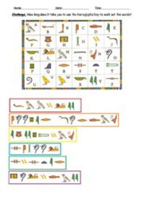 Hieroglyphics Worksheet by Worksheet History Hieroglyphics