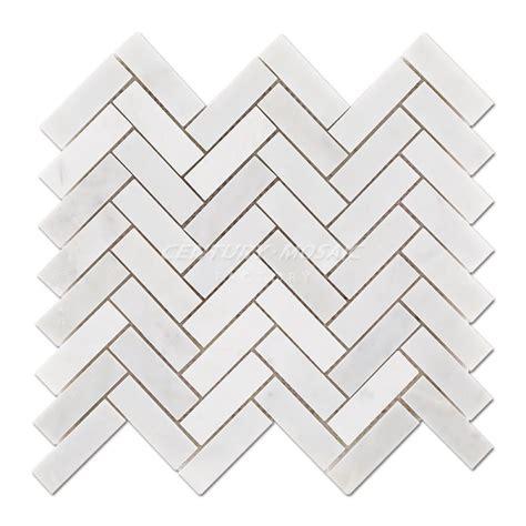white marble herringbone mosaic centurymosaic china marble