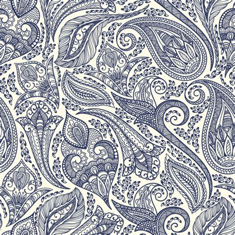 paisley seamless pattern vector indian paisley seamless pattern vector free vector in