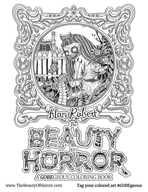Alan Robert The Beauty Of Horror Ii Coloring Book Where To Buy Horror Coloring Books