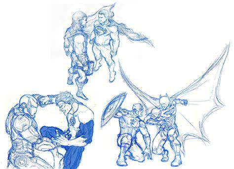 sketchbook marvel marvel vs dc sketch only by dhk88 on deviantart