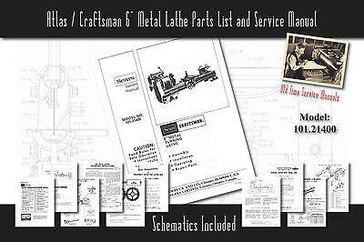Atlas Craftsman 6 Amp Metal Lathe 618 Amp 101 07301 Service