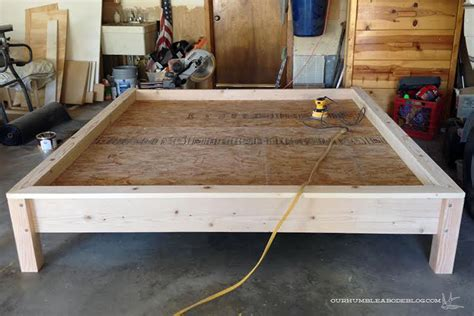 How To Build A Wood Bed Frame Master Bedroom