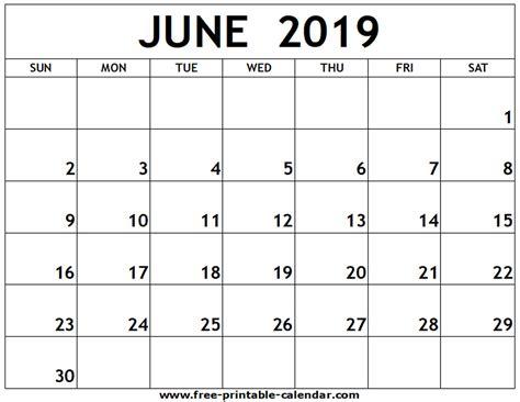 june printable calendar printable calendarcom