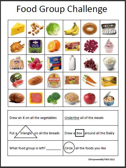 empowered by them food group challenge