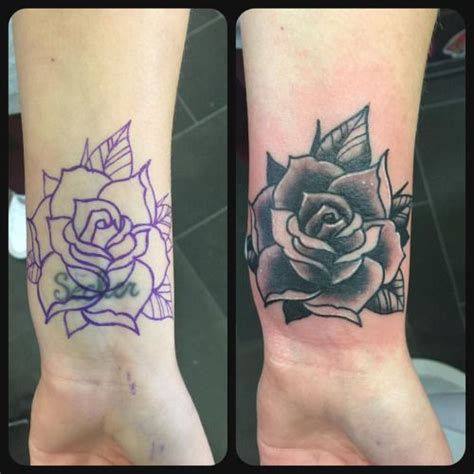 rose tattoo cover best 25 black cover up tattoos images on