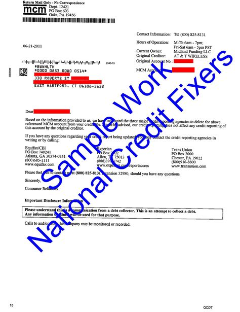 Midland Credit Management Letter Success Stories Sles Of Our Work Midland Credit