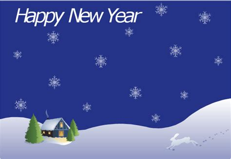 new year template card new year card house covered with snow template
