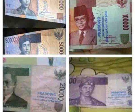 Uang Lama Rp10 000 uang rp10 000 rp100 000 berstempel kanye prabowo