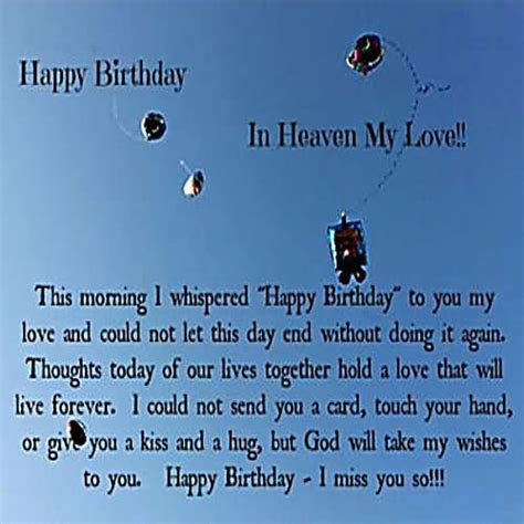Happy Birthday To My In Heaven Quotes Happy Birthday Wishes For Husband Page 16