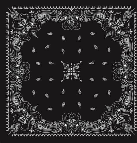 bandana pattern ai black with white bandana patterns design vector free