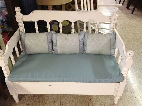 bench press on bed bench made from twin bed frame ginger s attic