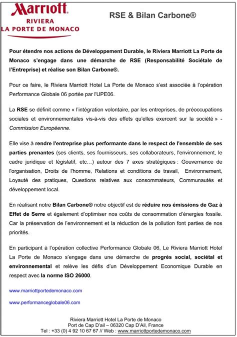 new year hotel press release pg06 le riviera marriott hotel communique engagement