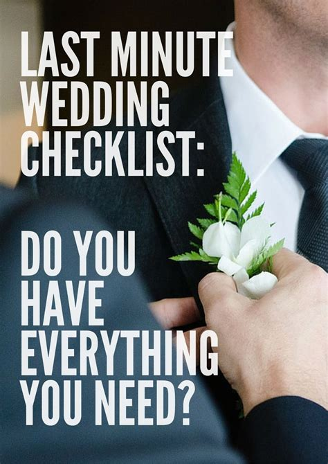 Wedding Checklist Everything You Need by Team Wedding Last Minute Details Wedding Checklist