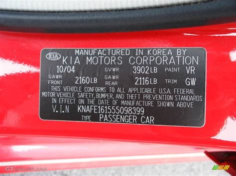 2005 kia spectra 5 wagon color code photos gtcarlot