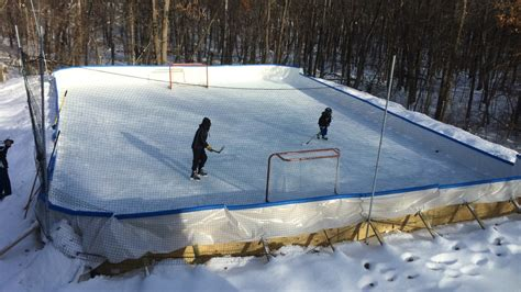 easy backyard rink iron sleek serves minnesota