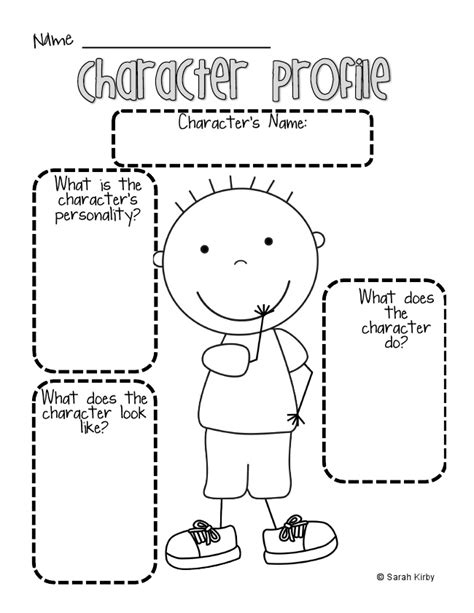 Character Traits Worksheet Pdf by Boy Character Profile Pdf Docs Like That It Has