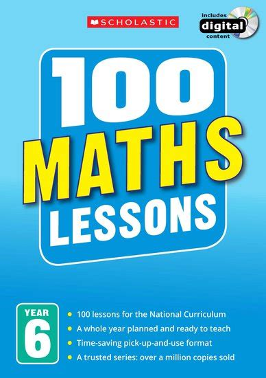 100 lessons national curriculum maths years 1 6 100 maths lessons for the 2014 curriculum year 6 scholastic shop
