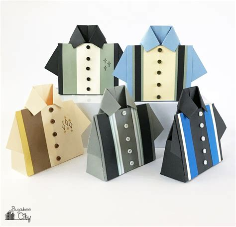 Origami Treat Box - bowling shirt origami treat box bowling shirts bowling