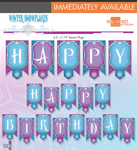 printable birthday banner frozen 9 best images of frozen birthday banner free printable