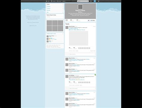 free twitter psd template creative beacon