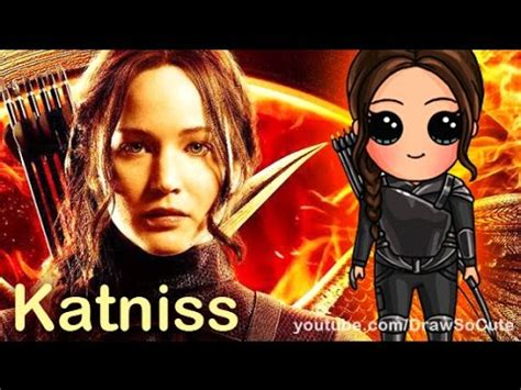 how to draw chibi katniss everdeen hunger games step by