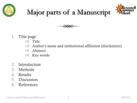RSS 2012 Preparing & Submitting the Manuscript