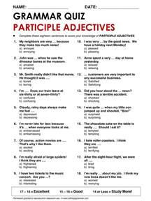 english grammar participle adjectives www allthingsgrammar